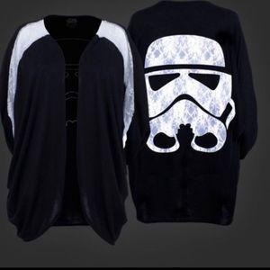 Star Wars Storm Trooper dolman sleeve cardigan NIP
